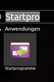 Ubuntu Dash Startprogramme