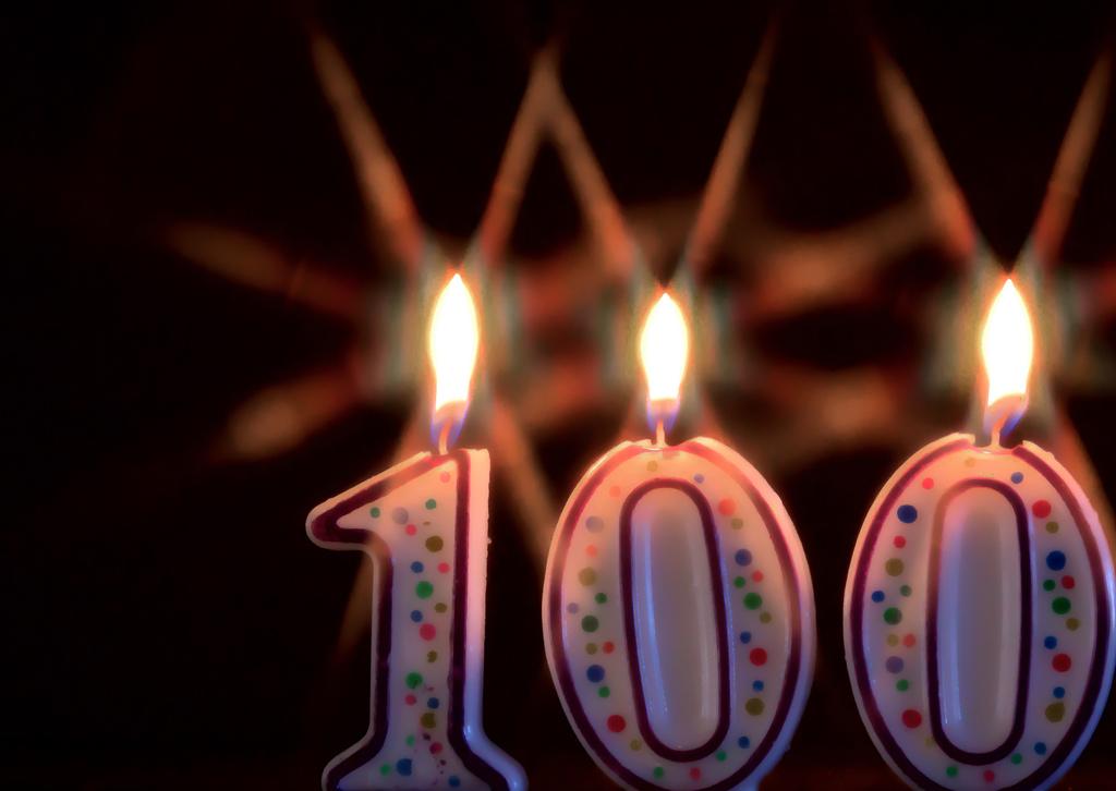 100 candle photo